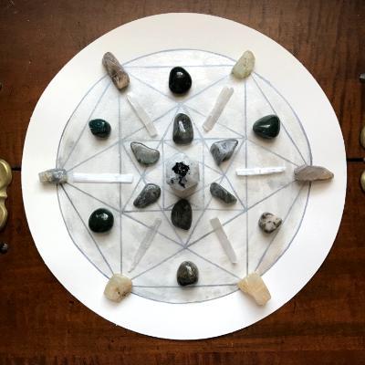 Crystal Grid for Moon Energy