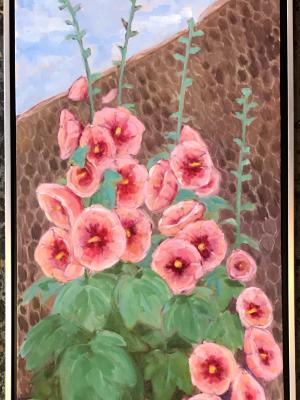 English Hollyhocks